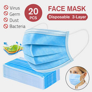 20 Pcs 3-Ply Medical Masks Disposable Surgical Face Masks For Protection
