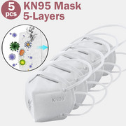 5 Pcs KN95 Masks CE & FDA Certification Passed PM2.5 Filter Face Mask