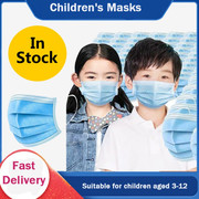 50 pcs 3 layer Children Disposable Medical Face Mask Fro Kids, Blue Soft Breathable Flu Hygiene