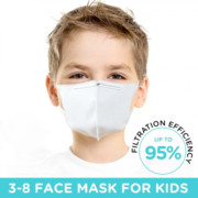 5 Pcs Children KN95 Masks, Breathable Isolation Protective Earloop Mouth Face Masks