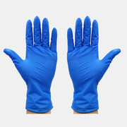 10Pcs / Pack Blue Disposable Rubber Gloves Dustproof Thick And Durable